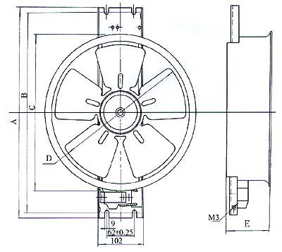 轴流风机200fzy7-d的接线法